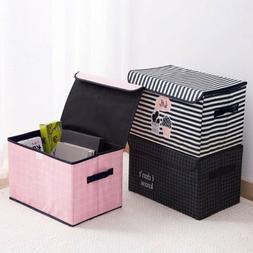 Foldable Storage Bins Boxes Basket Container Organizer Set W