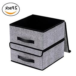 Onlyeasy Foldable Storage Bins Cubes Boxes with Lid - Storag
