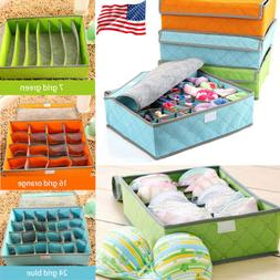 Foldable Storage Box Organizer Underwear Bra Socks Ties Clos