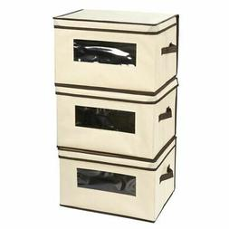 Juvale Set of 3 Foldable Storage Boxes with Lid - Storage Co