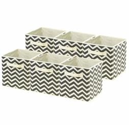 Sorbus Foldable Storage Cube Basket Bin, 6 Pack,Chevron Patt