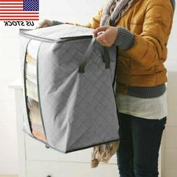 Folding Bamboo Charcoal Clothes Storage Bag Box Sweater Blan