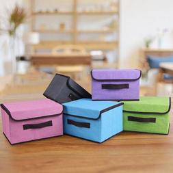 Folded Candy Color Storage Box Basket Anti-bacterial Clothes