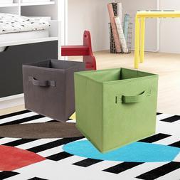 Folding Square Storage Utility Box Fabric Cube Drawer Organi