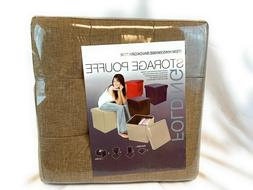 Folding Storage Cube Ottoman Seat Stool Box Footrest Furnitu