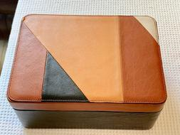 FOSSIL Jewelry/Watch Storage Box Case  Multi Color Leather N