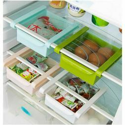 Freezer Fridge Slide Storage Box Kitchen Organizer Shelf Spa
