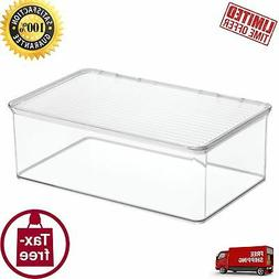 Freezer Storage Container Box MDesign With Hinged Lid 3.3 Qu