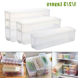 Fridge Food Egg Storage Box Drawer Container Organizer Rack