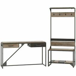 Bush Furniture Refinery Entryway Storage Set with Console Ta