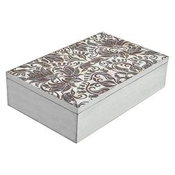 gbHome Decorative Wooden Treasure Box With Engraved Art, Min