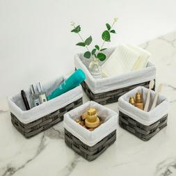 Gery Woven Storage Basket Container  Basket Box for Closet /