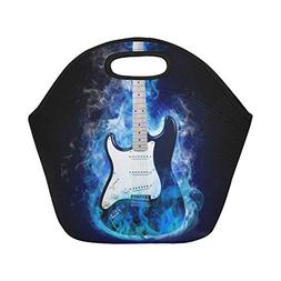 Gogogosky Custom Reusable Electric Guitar In Flames Lunch Bo