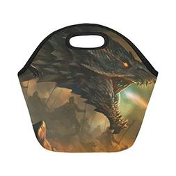 Gogogosky Neoprene Dragon Master Lunch Bag Insulated Lunch B