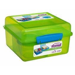 Sistema Green 2L Lunch Cube Max Multi Compartment Sandwich Y