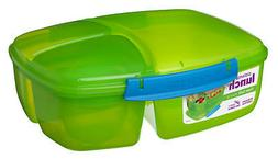 Sistema Green Triple Split 2L Multi Compartment Lunch Box Yo