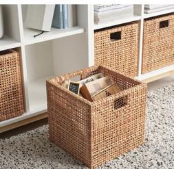 Ikea HADERITTAN Storage Box Basket Home Decor Rattan 11 ¾ x