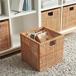 Ikea HADERITTAN Storage Box Basket Home Decor Rattan 11 ¾ x