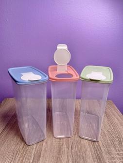 2PCS Kitchen Half Flip Food Storage Box Airtight Plastic Con
