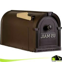 Postal Pro Hampton Post Mount Mailbox Gold Lettering Decorat