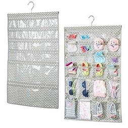 mDesign Hanging Fabric Baby Nursery Closet Organizer for Hat