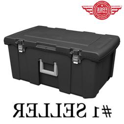 Heavy Duty Durable Footlocker Box Bin Container Storage Orga