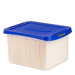 Bankers Box Heavy Duty Plastic File Box with Hanging Rails,
