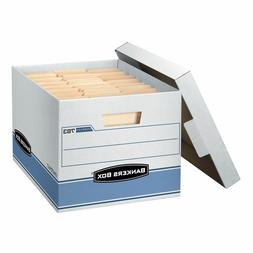 "Bankers Box Heavy Duty Storage Boxes 10"" X 12"" X 15""  10 Pac"
