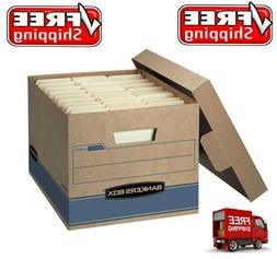 "Bankers Box Heavy Duty Storage Boxes, 10"" x 12"" x 15"" - 10 P"