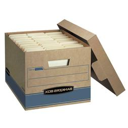 "Bankers Box Heavy Duty Storage Boxes, 10"" x 12"" x 15"""