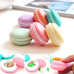 HK- 6 Pcs Random Color Cute Macaroon Jewelry Earphone Pill S