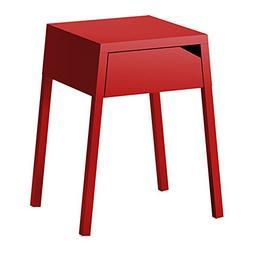 IKEA - SELJE Nightstand, Red