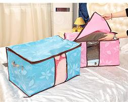 Home Container Foldable Storage Bag Clothing Blanket Box Clo