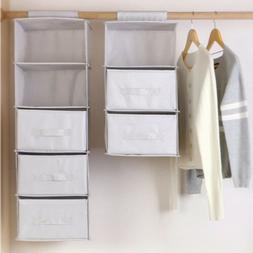 Home Drawer Shelves Hanging Wardrobe Organizer Storage Box S