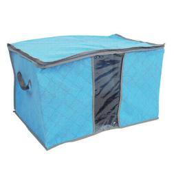 uxcell Home Foldable Zippered Dustproof Quilt Clothes Storag