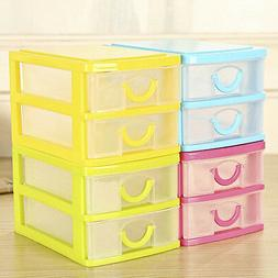 Home Organizer Box Two Drawer Jewelry Storage Holder Makeup