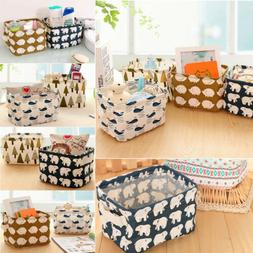 Home Storage Box Household Organizer Fabric Cube Bins Basket