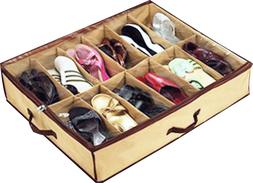 Home Storage Shoe Organizers 12 Cells Under bed Bag Foldable