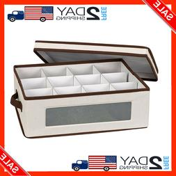 Household Essentials 538 Vision China Storage Box for Tea Cu