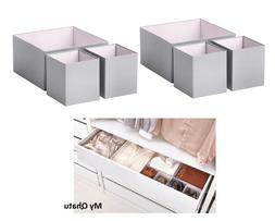 IKEA HYFS Box Set of 6 Gray light pink bedroom organization