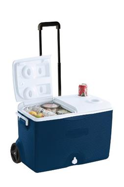 Rubbermaid Ice Chest / Cooler, Blue, 60-quart Wheeled FG2A90