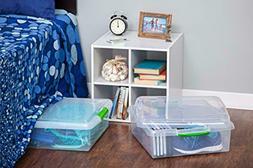 IRIS USA, Inc. Store and Slide Storage Box 6 Pack