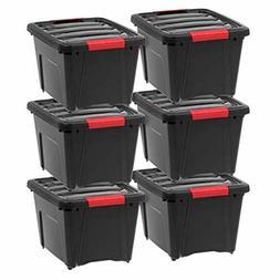 IRIS USA, Inc TB-17 Stack Pull Storage Box 19 Quart Black