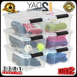 Iris Usa Inc. Tb-42 Stackable Clear Storage Box 6 Pack 12 Qu