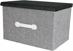 Natural Jute Jumbo Storage Box - Closet Bedroom Archival Org