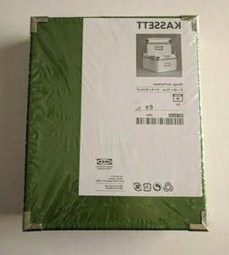 "Ikea Kassett 2 Storage Boxes 8 1/4"" x 10 1/4"" x 6"" Green Sea"