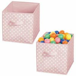 mDesign Kids Fabric Closet Storage Organizer Cube Bin Box fo
