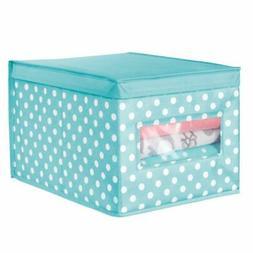 mDesign Kids Stackable Fabric Closet Storage Box, Large - Tu