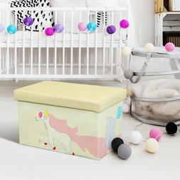 Kids Toy Organizer Storage box Toy Organizer Folding Ottoman