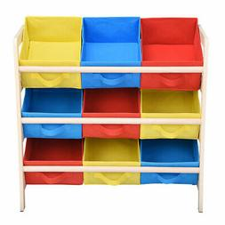 kids toy storage wood frame